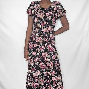 All That Jazz Vintage Floral Print Maxi Dress